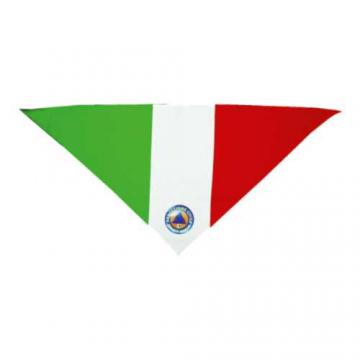 Foulard triangolare tricolore