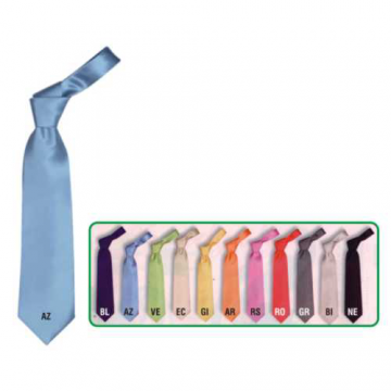 Cravatta poliestere monocolore