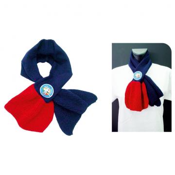 Sciarpa foulard da donna in lana con stemma applicato