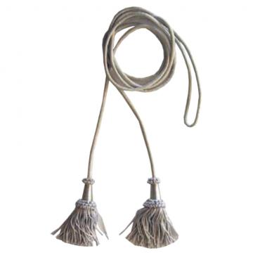 Cordone e fiocchi in argento per stendardo