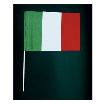 Bandierina Italia economica in poliestere leggero con astina (import)
