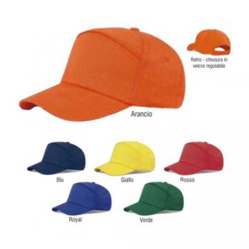 Art. K18016/SIL - Cappello baseball 7 pannelli 100% cotone