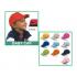 Art. K18158/SIL - Cappellino bimbo 5 pannelli