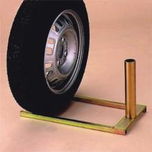 Supporto sottoruota zincato per aste Ø 32 o 50