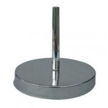 Base da terra economica in ottone cromato (argento)