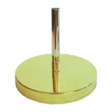 Base da terra economica in ottone lucido (oro)