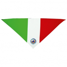 Foulard triangolare tricolore in poliestere leggero