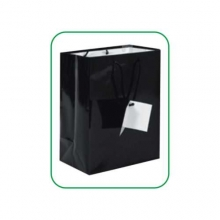 Art. PG008 - Shopper bianco e nero in carta laminata