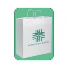 Art. PG038 - Shopper bianco  in carta kraft