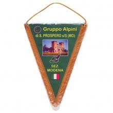 Gagliardetto triangolare con frangia